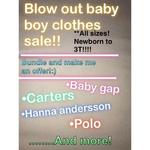 Other - ❗️❗️BABY BOY CLOTHES SALE❗️❗️